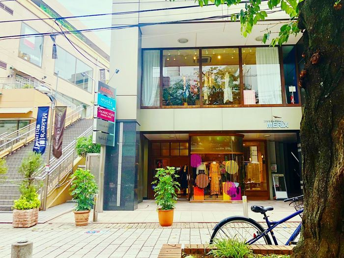 Built Structure Architecture Building Exterior Day Potted Plant Plant Nature Incidental People Footpath Shopping Window City Outdoors