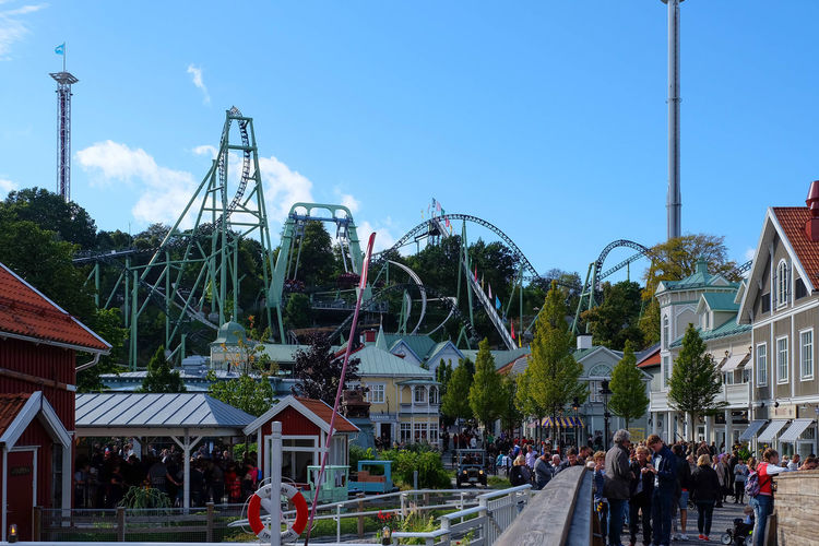 Amusementpark Architecture Built Structure Connection Engineering Entertainment Fun Holiday Liseberg Outdoors Rides Rollercoaster Theme Park