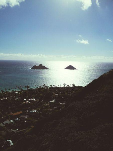 Twin Mokes Mokes Lanikai  Hiking Pillboxes Hawaii Enjoying The View Ocean Ocean View