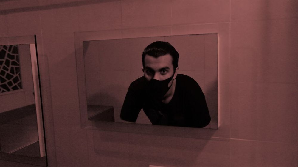 MASKED Adult Adults Only Bathroom Art Bathroom Pic Eyes Eyes Are Soul Reflection Indoors  Lifestyles Mask - Disguise Mask Collection Masked Maskedportraits Mirror Mirror Picture Mirrored Night One Person People Real People Young Adult