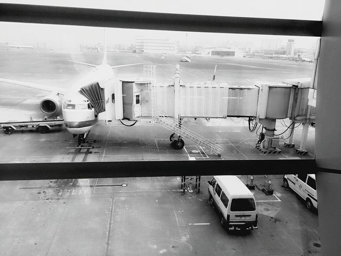 Airport From An Airplane Window Black & White Travel Warm Light Ready For The Trip EyeEm Gallery