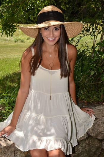 Beautiful Beautiful Youth Girl Wearing Cap Lovely Portrait Sun Sunset White Dress White Sundress Yeah! Spring Beautiful Pami