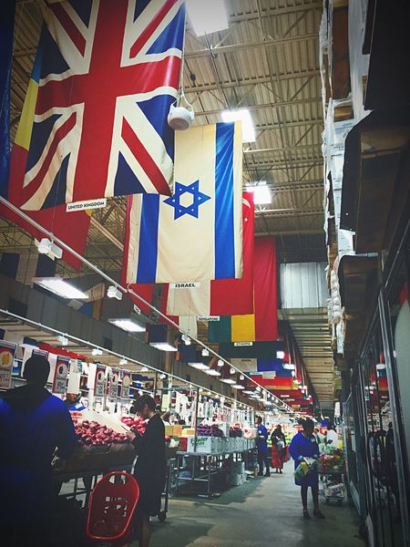 A day at my market inAtlanta Farmers Market Country Flags Flags Grocery Shopping Foodmarket IPhoneography No Photography Allowed Secret Shot