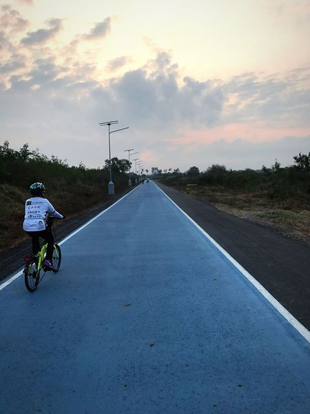 Sky Lane Bicycle Track Cloud - Sky Road Bicycle Cyclist Cycling Thailand EyeEm Thailand ThaiLocal