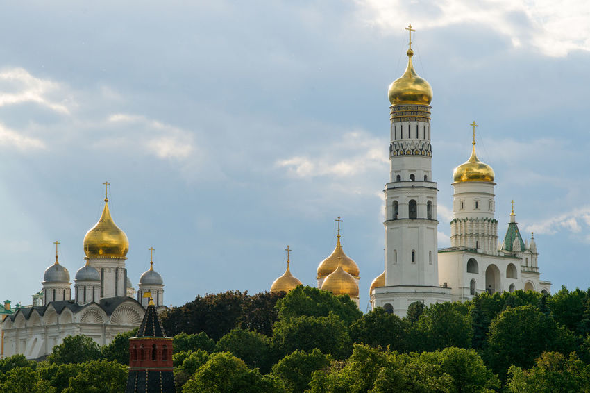 Architecture Church City Cityscape Gold Moscow Place Of Worship Spirituality Building Exterior Day Gilded Orthodox Praying Religion Structure Summer