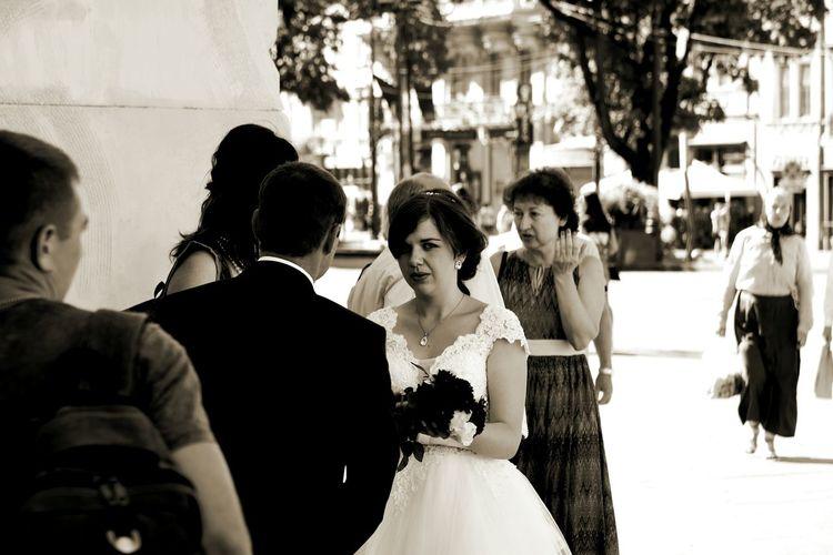 Bride Wedding Wedding Dress Celebration Wedding Ceremony Life Events Adult People Bridegroom Wedding Reception Streetphotography Lviv Lvov Ukraine NikonD810 Nikon D810 B&w Black And White Photography Lviv, Ukraine Ukrainian Girls Ukrainianwedding Ukrainianbride