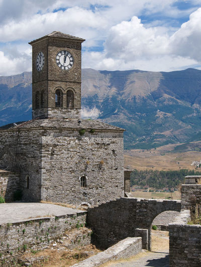 Albania Albania Tour Castle Gjirokaster Architecture Built Structure Clock Tower Cloud - Sky Day Mountain Nature No People Outdoors Sky