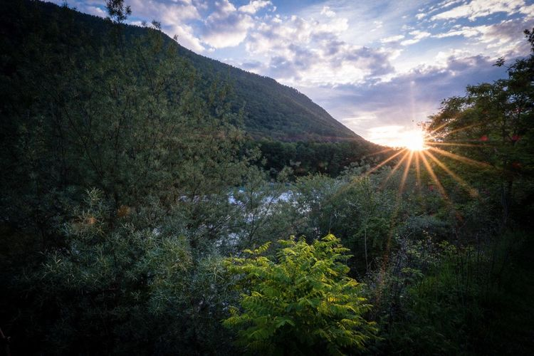 Tolmin Nature Slovenia Beauty In Nature Sky Tree Plant Growth Tranquility Scenics - Nature Cloud - Sky Sunlight Landscape Sunset