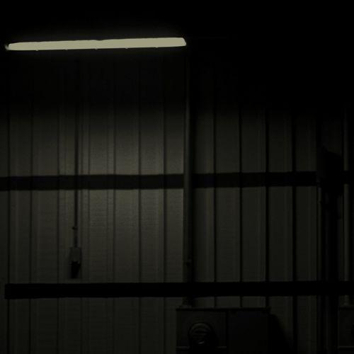 Around Back Flouresent Light Flourescent Metal Wall Spotlight
