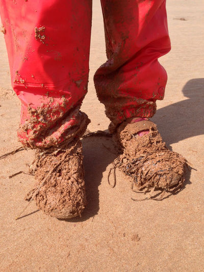 Canada (2014) Low Section Sand Standing Shoe Beach Fun Dirt Dirty Dirty Shoes Muddy Shoes Red Human Foot Sandy Playing Outside Playing Outdoors Red Trousers Red Red And Brown Kids Are Awesome Child Children Playing Childhood Innocence Having Fun EyeEmNewHere