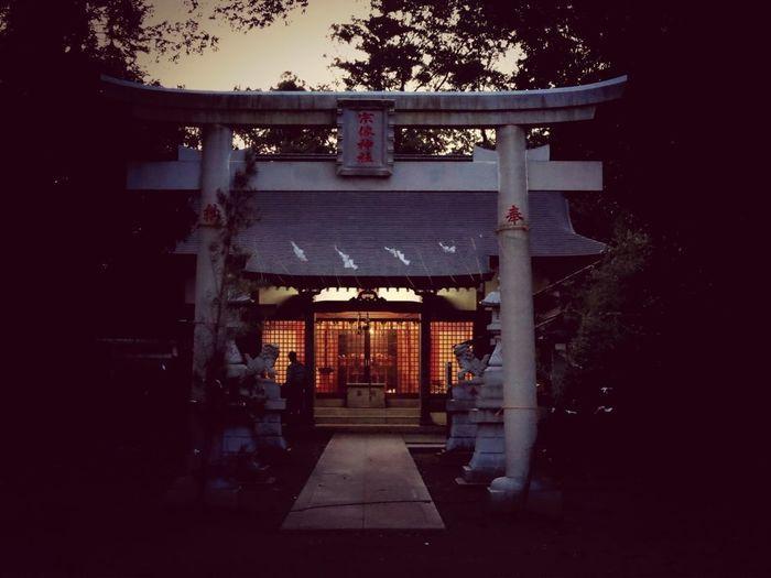 Sunset Shrine Japan Scenery