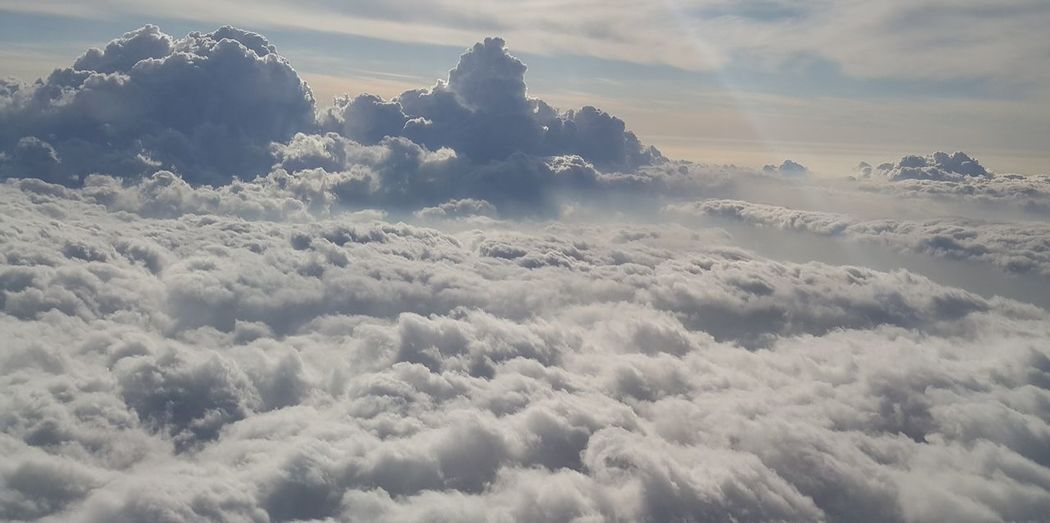 Cloud - Sky Cloud Waves Beauty In Nature Cloudy Sea Sea Of clouds Cotton Candy Clouds