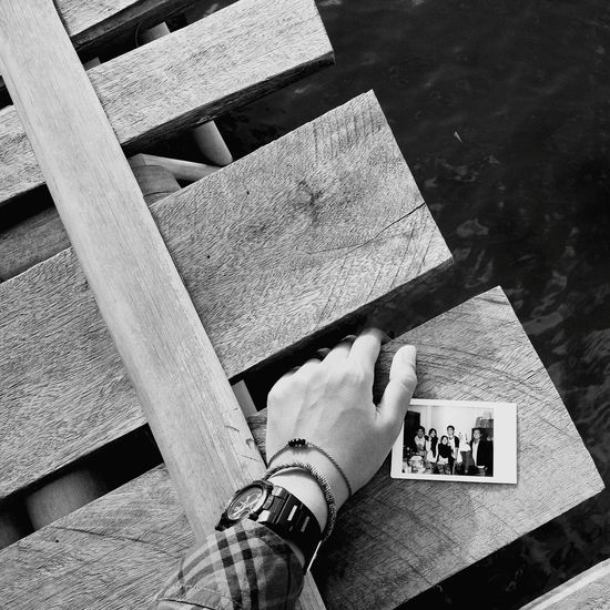 Black & White Blackandwhite Photography Family In One Frame Family Portrait Low Section Bridge Outdoors Day Leisure Activity Personal Perspective