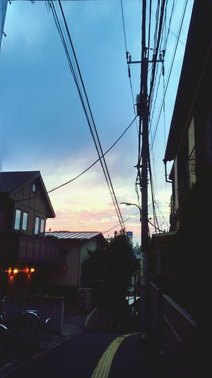 Alley Sunset Japan Hello World