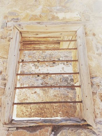 Spinalonga Island Historical Place History Window Frame Sunlight Crete Greece