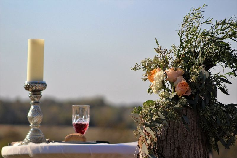 Ceremony Ceremony Artistic Beautiful Flowers Wedding Bridal EyeEm Selects Glass Tree Drink Nature Focus On Foreground Food And Drink Drinking Glass Wineglass Close-up Refreshment Alcohol Wine Plant Food Outdoors