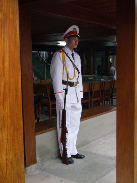 Guard at Ho Chi Minh's House Composition Day Full Frame Full Length Guard Hanoi Indoor Photography Indoors  Lifestyles No Incidental People Person Portrait Rifle Side View Smart Standing Tourist Attraction  Uniform Vietnam Young Adult