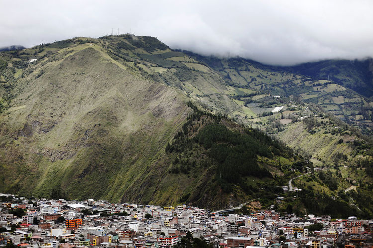 Ecuador Banjo Baños Mountain Architecture Building Exterior Built Structure Mountain Range Day Nature City Cloud - Sky Scenics - Nature No People Residential District Environment Building Sky Outdoors Beauty In Nature Town Tree Plant Community TOWNSCAPE Mountain Peak