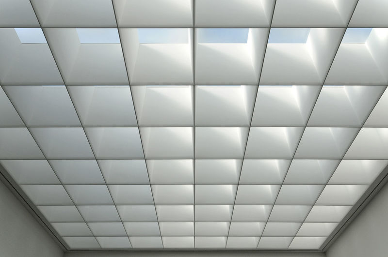 Neues Museum Nürnberg, Volker Staab ©alexander h. schulz Architecture Ceiling Modern Neues Museum Nuremberg Abstract Close-up Full Frame Indoors  Interior Interior Design Minimalism Museum No People Pattern Raster Rectangle Staab Textured