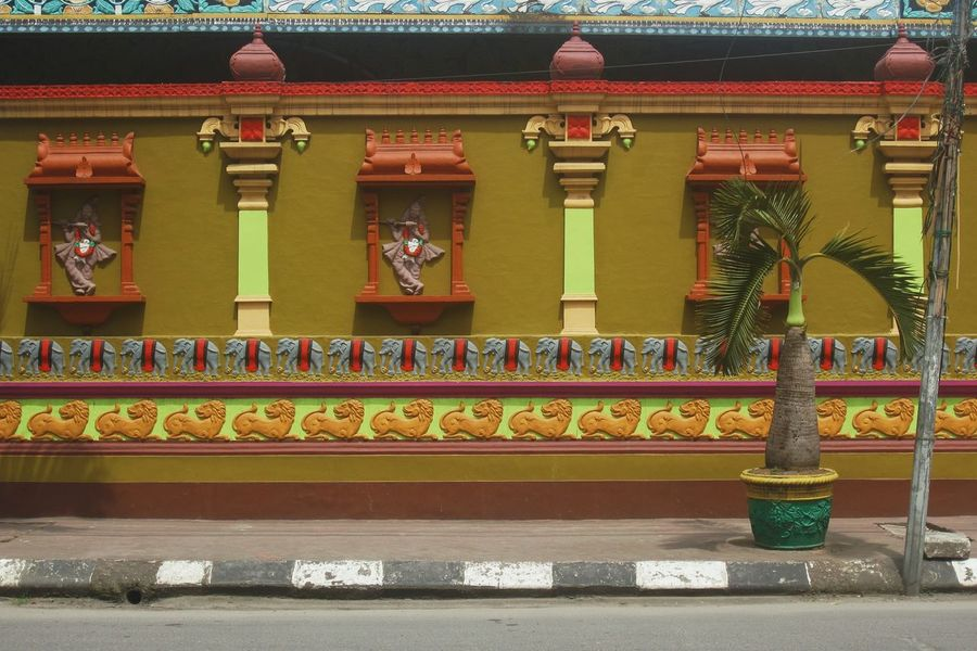 In A Row No People Day Temple Wall Hindu Hindu Temple Hindu Culture Religion Wall Ornament Colorful Minimalist Minimalobsession Minimalism