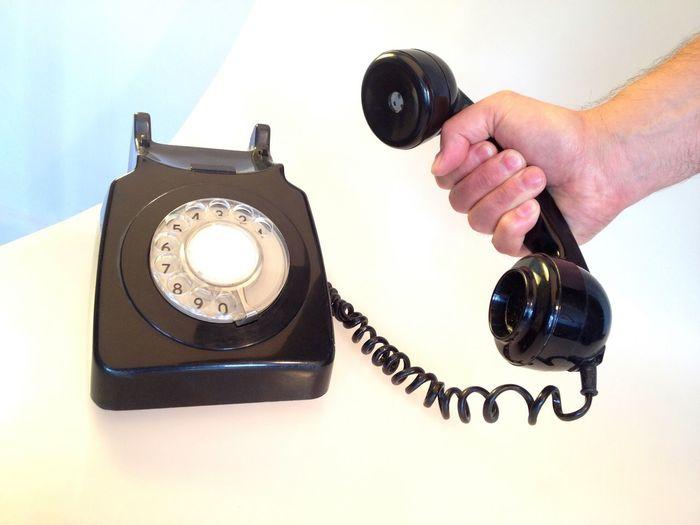 Vintage telephone Telephone Bakelite Super Retro Vintage Communication Hand Answering Phonecall