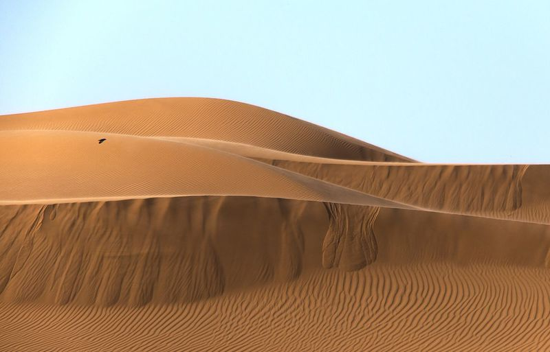 Scenic View Of Sand Dunes In Desert