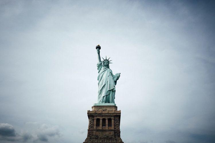 Statue of Liberty Statue Travel Destinations Cloud - Sky Freedom USA Statue Of Liberty Missliberty New York Newyorkcity Liberty Island Travel Wanderlust