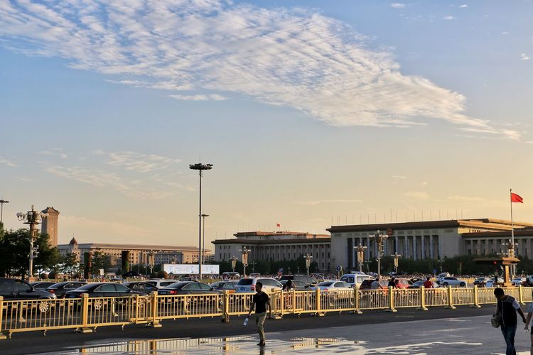 Tian'anmen Square before sunset