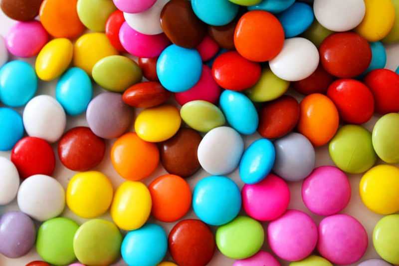 Full frame shot of multi colored candies