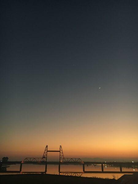 2017年最初の夕焼け空 Sunset Skyporn Reflection Sunsetporn Iphonegraphy IPhone