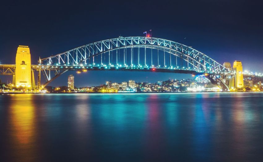 City Cityscape Illuminated Urban Skyline Business Finance And Industry Arts Culture And Entertainment Sky Architecture Cable-stayed Bridge Bridge - Man Made Structure