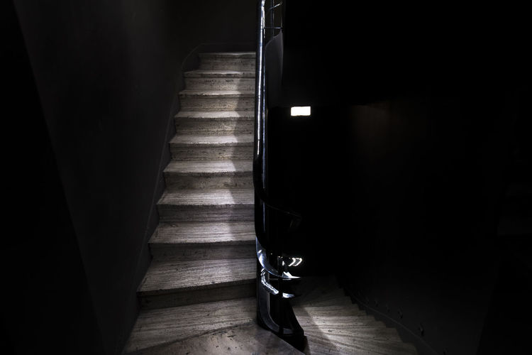 Indoors  Staircase Architecture Steps And Staircases Dark No People Flooring Absence Railing Wood - Material Built Structure Home Interior Wall - Building Feature Day Illuminated The Way Forward Wood Hardwood Floor Building Edificio Comega Comega Buenos Aires Buenos Aires, Argentina  Architecture_collection