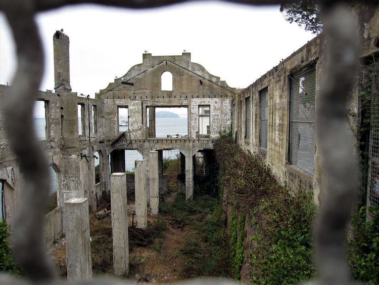 What's left of the Officer's Club at Alcatraz. Alcatraz Alcatraz Island Bay Area California Federal Penitentiary Jail Ruins San Francisco Abandoned Decrepit Dilapidated Empty Golden Gate National Recreation Area Hollow National Park Service Prison Tourism
