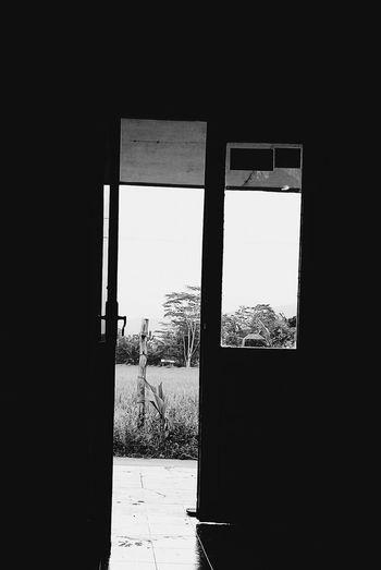 Black Black & White Indoor HOME SWEET HOME. Door Outside View From The Door No People Dayshots