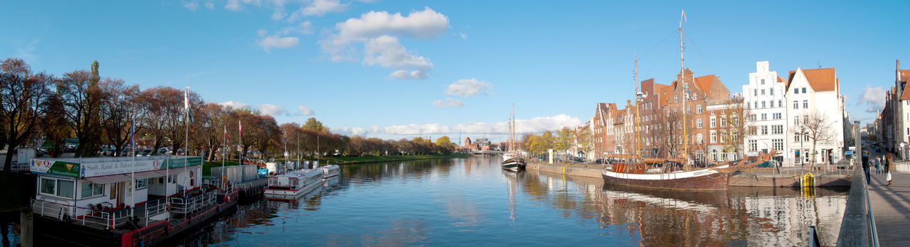 Hafen Lübeck Panorama View Waterscape Architecture Ships⚓️⛵️🚢 North Germany Lübeck Check This Out