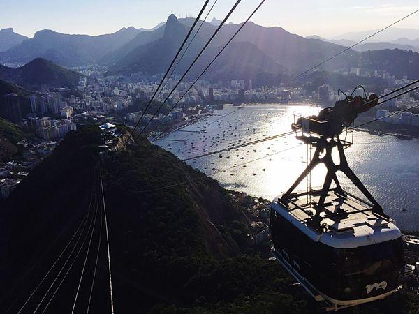 Teleferico Jesus Corcovado Enseada De Botafogo Vista Paisagem Iphone6 Bondinho