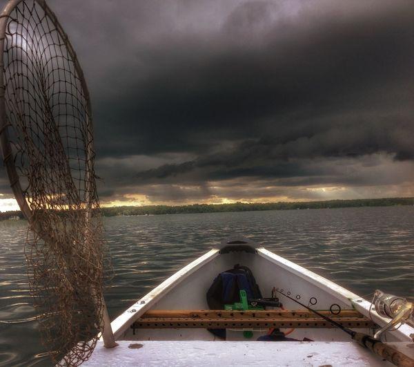 Bemidji Minnesota Storm Movillake Stormy Weather Canoe Fishing Fishingcanoe Oh Yeah