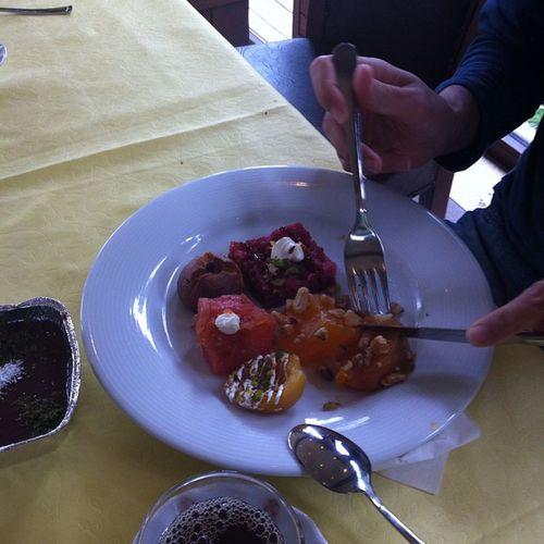 Ercan doymaz ve Tatli faslina gecer Mihrabat Mihrabad Istanbul kahvalti yemek instafood food