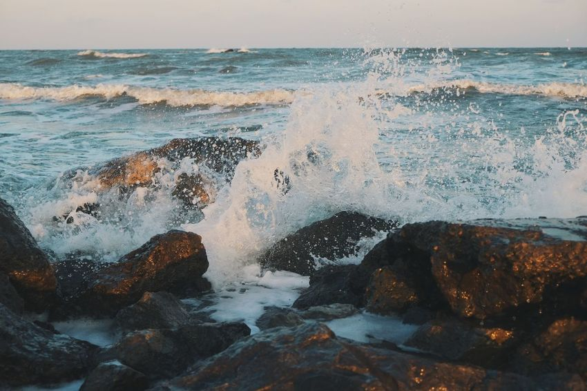 Sea Beach Horizon Over Water Wave Water No People Sunset Nature Beauty In Nature Day Outdoors Scenics Sky Power In Nature Close-up