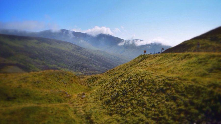 Scotland Landscape Nature Mountains Blue Sky