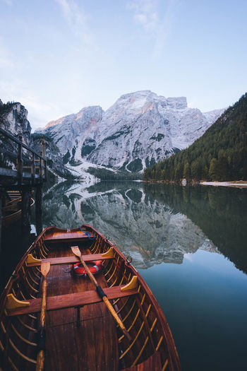 Mountain Water Scenics - Nature Lake Beauty In Nature Sky Mountain Range Nature Tranquil Scene Reflection Tranquility Non-urban Scene Outdoors Nautical Vessel Idyllic Day