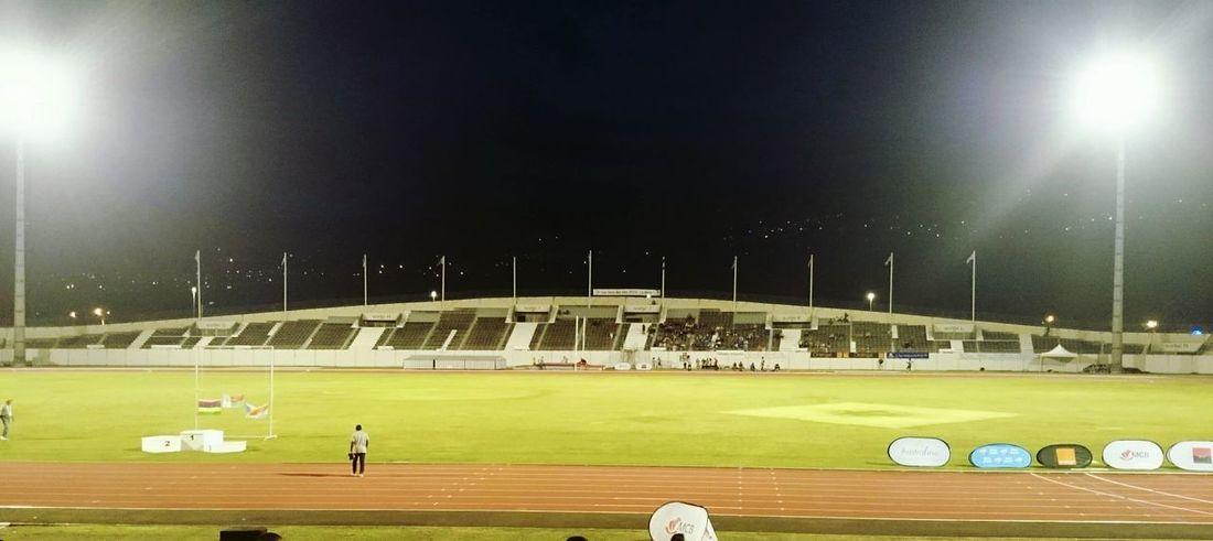 Xperiaz2 Night Jeux Des Iles Stadium Stade Athletism Xperia Z2 Reunion