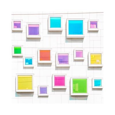 Shape Multi Colored No People Photography Day Abstract Façade Fine Art Photography Architecture Minimalism Graphic Contemporary Art Geometric Shape
