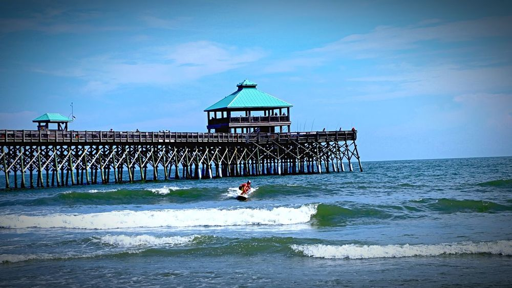 Folly Beach • Surfer Guy • Folly Beach Water Ocean Pier I wish that I could have this moment for life