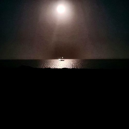 Silhouette Water Sea Moonlightscape Moonlight Moon Moon On Water Ship At Sea Moon Shine Ship At Night Ship At The Horizon Ship At