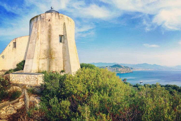 Faro Lighthouse Faro Milazzo Capo Milazzo Mare Siciliabedda Sicily Siciliabedda Water Sky Water Plant Built Structure Architecture Nature Cloud - Sky Sea Beauty In Nature Outdoors