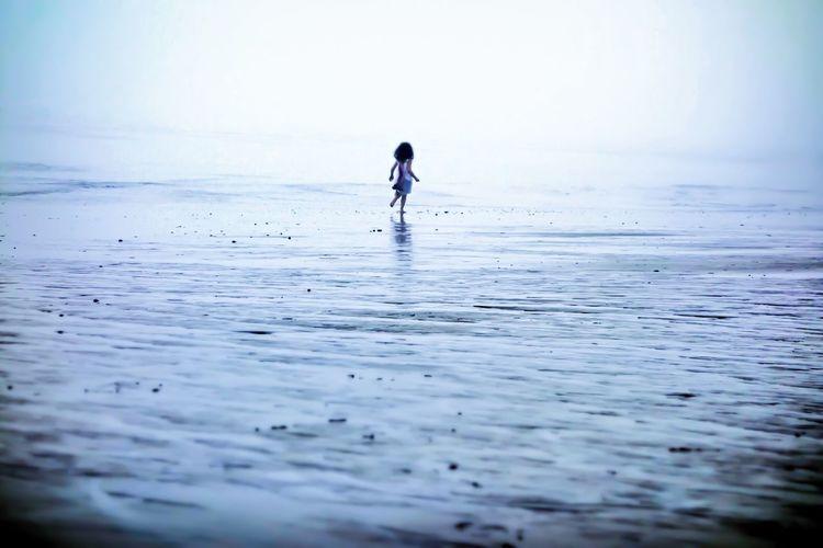 Julia On The Beach Life Is A Beach Beachphotography Fog Beach People The EyeEm Facebook Cover Challenge