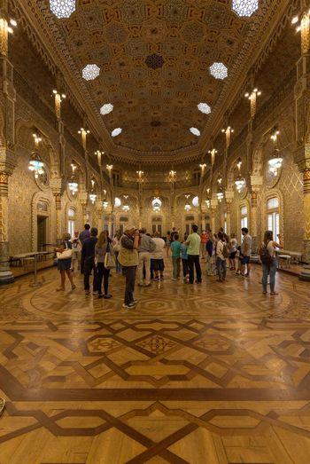 Fancy interior of Palácio da Bolsa (a.k.a. Associação Comercial do Porto). This room's interior was made of gold. Taking Photos Traveling Popular Photos Check This Out Hello World Portugal Architecture