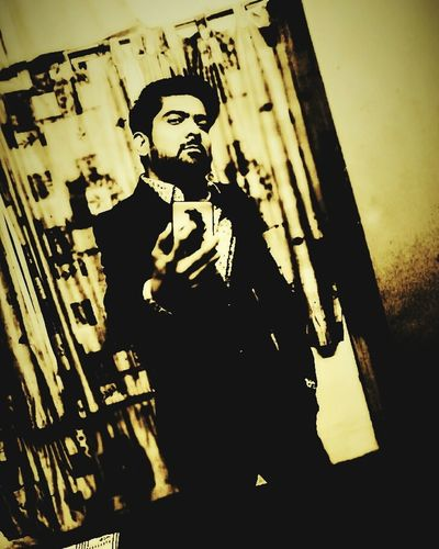 Adult One Man Only Painted Image Close-up One Person Indoors  Self Portrait Men Only Men Selfie Portrait Beard Fashion Photography Adults Only One Young Man Only Looking At Camera Selfie✌ No People Modeling Suitedup Suited And Booted Noiretblancphotographie Noir Standing Mirrorselfie The Week On EyeEm