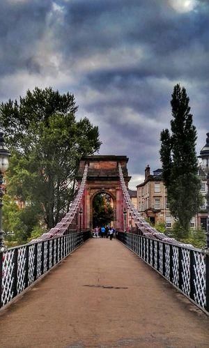 Bridge Suspension Bridge River Clyde
